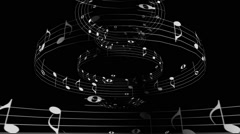 Music Notes Dome Rotation Stock Footage
