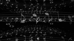 Music Notes Tubular - stock footage