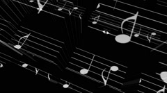 Music Notes Elevator - stock footage