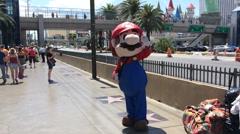 Mario on Las Vegas Blvd Stock Footage