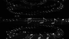 Music Notes Triple Spin - stock footage