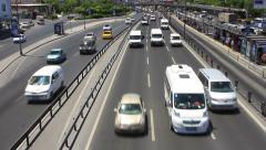 Busy traffic on highway Stock Footage