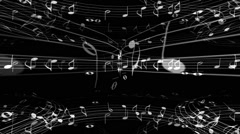 Music Notes Spheres - stock footage