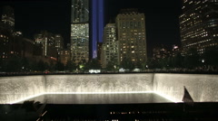 911 Memorial Tribute In Lights Stock Footage