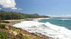 Mahaulepu Heritage Trail, Gillen Beach, Poipu, Kauai, Hawaii Stock Footage