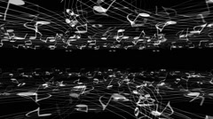Music Notes Horizons - stock footage