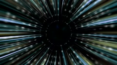 Warp Drive / Hyperspace Tunnel Motion Graphic Effect - Seamless Loop Stock Footage