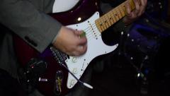 Electric guitar. Stock Footage