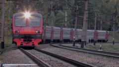Stock Video Footage Passenger train Stock Footage