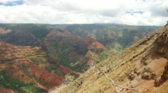 Pan, Waimea Canyon, Kauai, Hawaii Stock Footage