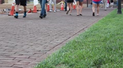 Students walking on campus Stock Footage