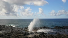 Spouting Horn, Poipu, Kauai, Hawaii Stock Footage