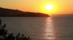 Stunning sunset over Burgaz Ada Island.  Time Lapse Stock Footage