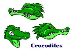 Cartoon crocodile and alligators characters Stock Illustration