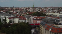 Top view of berlin city Stock Footage
