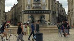 Place De La Bourse - Bordeaux France Stock Footage