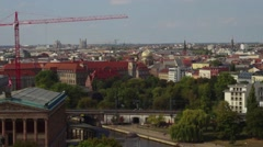 Time lapse berlin city top Stock Footage