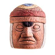 olmec face - stock photo
