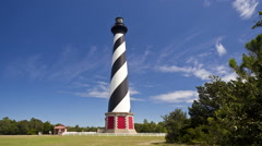 Cape Hatteras Light In The Outer Banks, North Carolina (Timelapse) Stock Footage