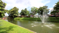This moat, Chiang Mai, Thailand.1 Stock Footage