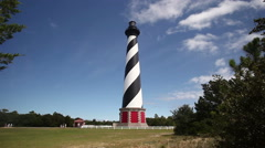 Cape Hatteras Light In The Outer Banks, North Carolina Stock Footage