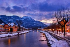 Spa resort bad ischl austria at sunset Stock Photos