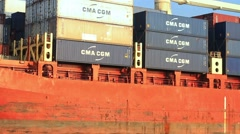 CMA CGM third largest container shipping company in the world Stock Footage