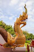 Naga statue - stock photo