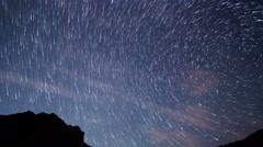 Stars like meteors. TimeLapse. 4K Stock Footage