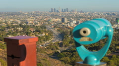 Los Angeles Scenic Panorama Day Timelapse. Downtown and Highway Stock Footage
