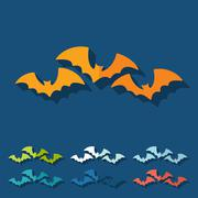 Flat design: bat Stock Illustration