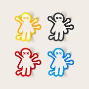 realistic design element: voodoo Doll - stock illustration