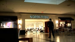 Nordstroms entrance shopping mall Stock Footage