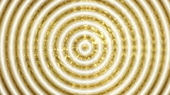 Concentric Circles of Gold and Ivory Stock Footage
