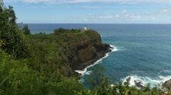 Kilauea Lighthouse, Kauai, Hawaii - stock footage