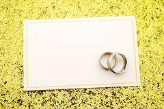 Wedding invitation with copy space Stock Photos