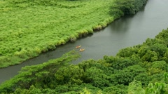 Wailua River, Kayaks, Kauai, Hawaii Stock Footage