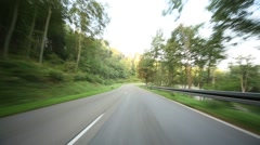 Timelapse POV Onboard-Camera on a rural road in Germany - stock footage