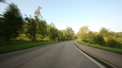 Car With Onboard-Camera on a rural road in Germany (P.O.V.) Stock Footage