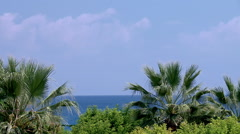 View of the Mediterranean coast Stock Footage
