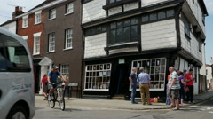 Stock Video Footage of Sir John Boys House also known as Crooked House, Palace Street, Canterbury, Kent