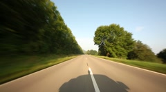Stock Video Footage of POV Onboard-Camera on a rural road in Germany