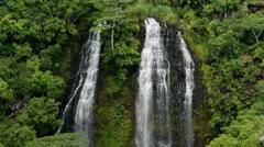 Opaekaa Falls, Wailua, Kauai, Hawaii Stock Footage