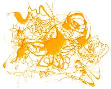 Abstract splash yellow color Stock Illustration