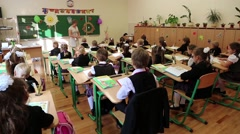 Kids in classroom, school Stock Footage