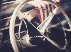 Interior of a classic american car Kuvituskuvat