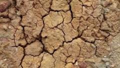 Close up of yellow soil with cracks Stock Footage