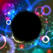 Abstract black hole - stock illustration