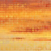 Sundown themed background with circular grid Stock Illustration
