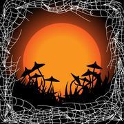 Stock Illustration of Creepy frame